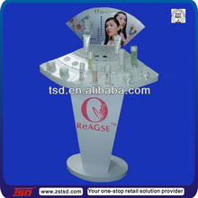 TSD-A240 factory custom free standing acrylic furnitures for cosmetic displa/perfume floor display/acrylic cosmetic stands sale