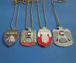 2015 UAE 44th national days souvenir falcon design metal necklace for promotional gifts