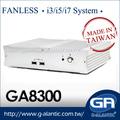 GA8300 Intel Core i3, i5, i7 sin ventilador Barebone ordenador