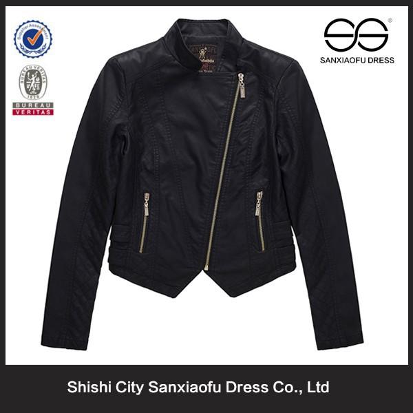ขายส่งผู้หญิงเสื้อหนังสีดำที่กำหนดเอง, ราคาถูกรถจักรยานยนต์แจ็คเก็ตหนังสำหรับผู้หญิง