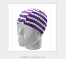 2015 adult general color stripe swimming caps Swimming supplies