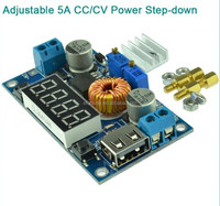 Hot Selling !!! Adjustable 5A CC/CV Power Step-down Charge Module LED Driver W/ USB Voltmeter