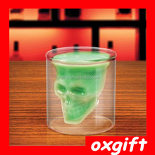 OXGIFT skull beer glass cup for bar drinking glass ware