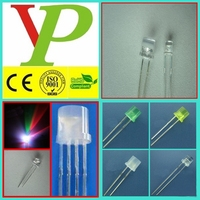 5mm flat top led diode with high brightness for lighting CE&ROHS