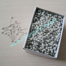 Wedding Bouquet Decoration 25mm Plastic Pearl Head Pin