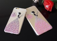 Fashion TPU Relief Set Auger Pattern PC Soft Mobile Phone Cover For 4.7inch iphone6 /6S,phone case for iphone 6s