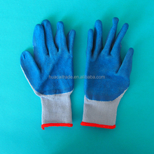From Shandong, 10-pin Best Quality Crinkle Labor Safety /Working Cotton Latex Gloves