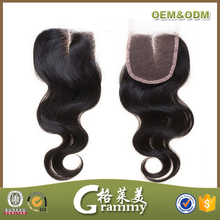 2015 best selling new high quality cheap human hair lace closure/ free parting lace closure