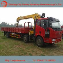 igh perfessional unic truck mounted crane manufacturer 10 ton SQ10SK3Q telescopic boom truck mounted crane