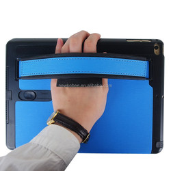 Hand holder Case for iPad Air With Armband And Loud Speaker tablet case, Luxury Flip Case For ipad Air2 Wholesale