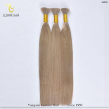 2015 Hot Sale Good Feedback Wholesale Price Top Quality Double Weft 20 inch indian remy bulk hair #27 light yaki