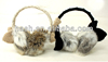 SDC12739 Glirs Fake Fur Ear Muffs with Knit Bows and Lace Headband