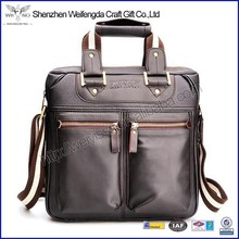 Multifunction high quality pu leather laptop messenger bag