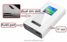 RJ45 and Power bank 4g dual sim router