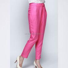 Top grade stylish man formal solid color long pants