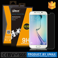 High Quality 9h anti-scratch 0.33 +2.5D tempered glass screen protector shield glass screen guard for Samsuang S6