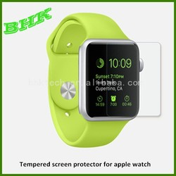 perfect adhesion extremely smooth tempered screen protector for apple watch 38mm 42mm,tempered glass protector for apple watch