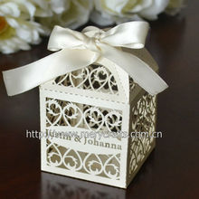 2014 Laser Cutting wedding favor Candy Boxes present bag packaging chocolate box marriage party gift packing