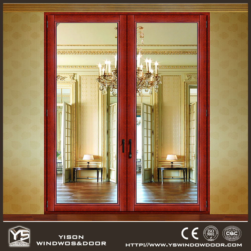 Lowes exterior wood doors french aluminium wood door buy for Exterior double doors lowes