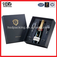 2015 new arrival custom wooden wine gift box wholesale OEM luxurious design