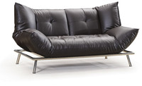 America Style Black Leather Sofa Bed Wholesale