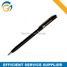 Black Color Metal Twist Ball Pen Slim for Office