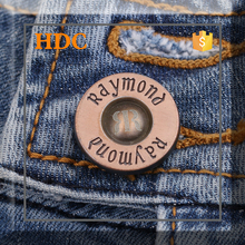 New fashion design cheap custom jeans buttons with logo