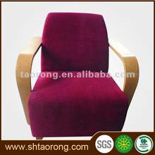 Factory direct cheap red fabric 1 seat salon furniture waiting sofa