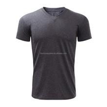 wholesale fashion unisex blank bulk v-neck t-shirt