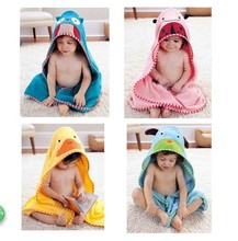 cartoon cotton kids hooded towel wrap