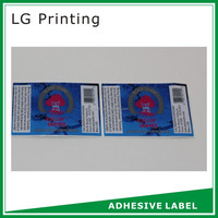 permanent adhesive waterproof labels for glass