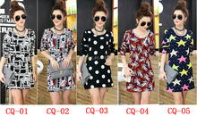 3 - 4 USD wholesale long sleeves Korea fashion design women clothes ,korea new arrival fashion causal dresses #OCW21