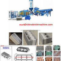 QT10-15 Automatic block making machine with color feeder pan mixer paver making machine