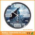 Relógios de Metal decoração de parede com relógio super homem enfrenta o design