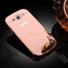 NEW!! Rose Gold PC Acrylic Mirror Back Cover Plating Metal Frame Case 4.8 Inch Cell Phone Back Cover Case For SAMSUNG GALAXY S 3