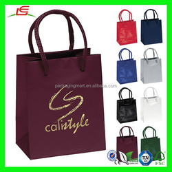 NZ156 Fancy Gift Shopper Bag 4.5x5.5 Gloss Foldable Paper Wholesale Cheap Shopping Bag