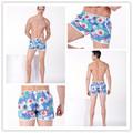 pantalones cortos impresión de la flor para los hombres pantalones cortos de algodón de mesa