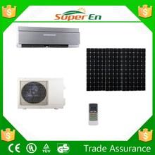 black air conditioner ,24v 12000btu cooling heating hybrid Solar split air conditioner