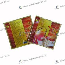Dumpling/frozen food packaging bag/high quality heat sealed food packaging bag
