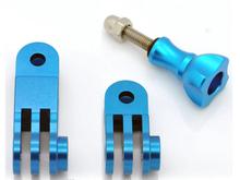 2015 Camera CNC Aluminum Mount Three-way Pivot Arm for gopro HD cameras red ,gold , blue , purple