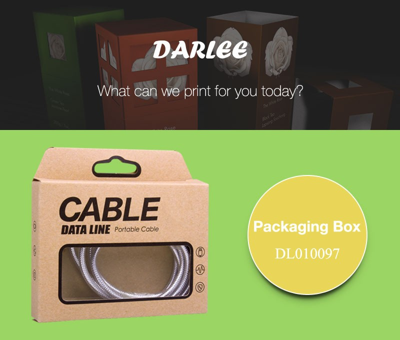 USB cable paper packing boxes