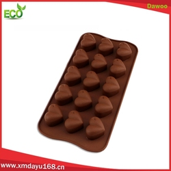 Hot sale heart shape chocolate molds silicon