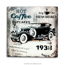 Customize Shabby Chic Decorative Items Coffee Shop Interior Wholesale Wood Plaque Blank
