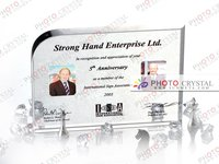Digital photo crystal glass/gift/occasion/crystal block/promotion/advertising/wedding