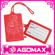 Factory direct sell corporate gift trendy rubber luggage tag strap