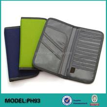 Promotional custom 600D fabric travel document organizer bag set with safety belt