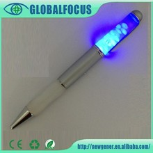Fancy led pen with 3d floater hight quality led pen with customized logo led pen
