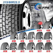 AUFINE brand Trade Assurance China heavy duty truck tyre 385/65R22.5 suitable for minning