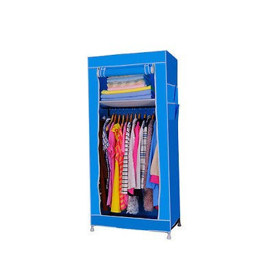 Small Portable Closet Fabric Wardrobe Cheap Clothes Rack With Shelves Blue Buy Fabric Wardrobe