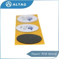 Custom printed Ntag203 chip anti metal rfid nfc sticker tag
